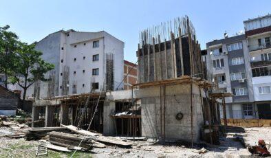 Bursa Osmangazi'de Elmasbahçeler Hizmet Binası yükseliyor
