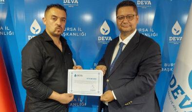 DEVA, Bursa Büyükorhan'da teşkilatlanıyor