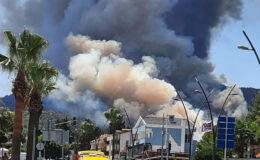 Marmaris'te de orman yangın çıktı!