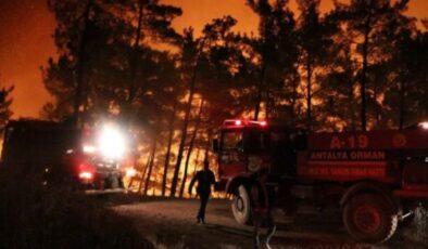 Mersin'deki orman yangınında 50 ev tahliye edildi