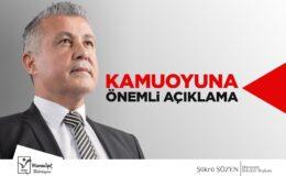 Başkan Sözen'den vatandaşlara yardım kampanyası uyarısı