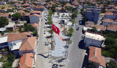 İzmir Aliağa'da tarihi meydanda restorasyon
