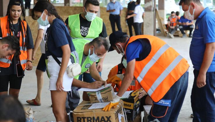 Muğla'daki Yardım Noktaları lojistiği sağlıyor