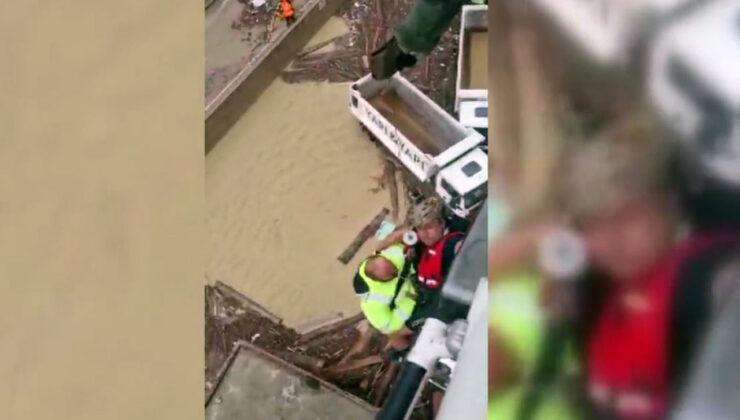 Sinop Ayancık'ta mahsur kalanlar helikopterle kurtarıldı